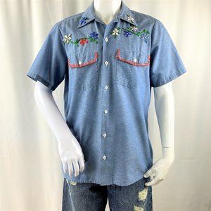 Vintage Dickies Ribbon Embroidered Shirts